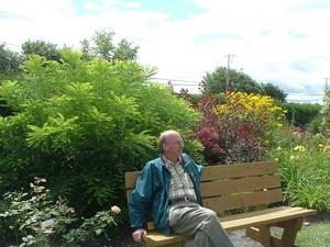 Une pause bien méritée pour André - 12 août 2006 Prise par Paule Poulin