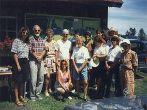 Première visite d'un jardin privé, celui de Denise et Robert Giasson en 1995. Prise par Inconnu