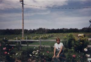Jardin de Suzanne Demers en août 1998 à St-Apollinaire. Prise par Inconnu