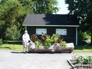 Visite au Jardin botanique de Montréal   Juillet 2008  - Belle idée pour récupérer un arbre mort! -  Prise par Nicole Sanschagrin