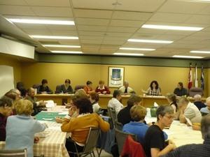 AGA 2009    Début de la réunion. -  -  Prise par Nicole Sanschagrin