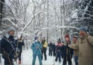 Une belle gang de mordus de plein air en ski de fond au lac Raymond en janvier 1997. Prise par Inconnu