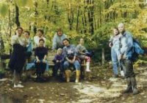 Balade en forêt au Cap Tourmente en octobre 1997. Prise par Inconnu