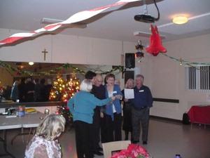 Party de Noël 2009 - Un petite chanson composée par les participants à la fête. -  Prise par Nicole Sanschagrin