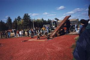 Visite des champs de canneberges à St-Louis-de-Blandford en octobre 1998. Prise par Nicole Sanschagrin