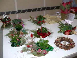 De magnifiques centres de tables, qui deviendront de jolis cadeaux Prise par Nicole Sanschagrin