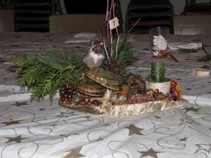 Un des magnifiques centres de table, montés par Catherine et Margot Prise par Claude Bergeron