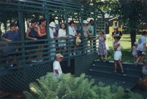 Le très populaire jardin d'Arlette Guy en 1996. Prise par Inconnu