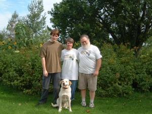 Nos hôtes : Martin, Nicole, Alain et Cyrano.  Septembre 2004 Prise par Martin Gosselin
