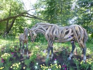 6 SHSA, Mosaiculture, Chevaux, sculpture en bois, HD, 13-07-13