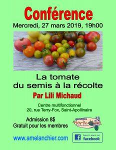 conférence Lili Michaud La tomate, du semis a la récolte